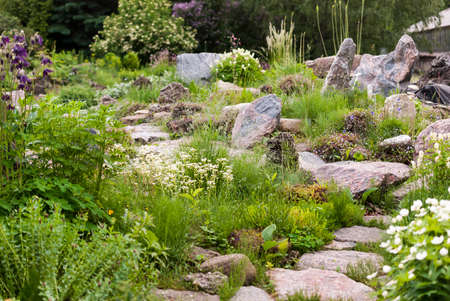Alpine Hill Flowerbed Garden Design Stock Photo Picture And Royalty Delectable Alpine Garden Design