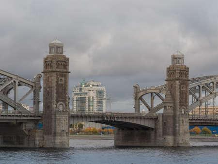 St. Petersburg, Russia - September 21, 2017: The Bridge of Peter the Great. Saint Petersburg, Editorial