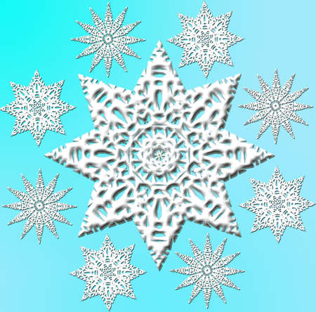 rime frost: Snowflakes swirl. Vector picture for your creativity.