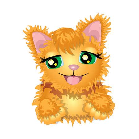 ginger: Ginger kitten illustration