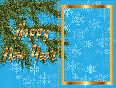 new year card: new year card Illustration