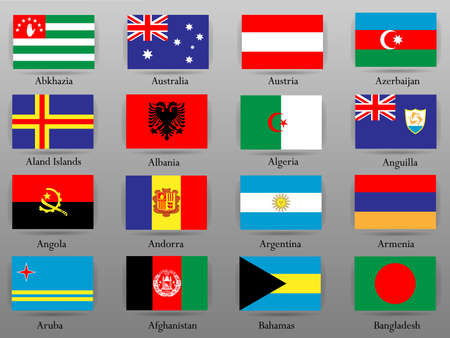 Flags of all the countries of the world