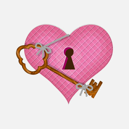 Heart and key to open his Valentine day.