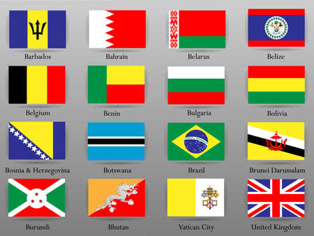 Flags of all countries of the world. Çizim