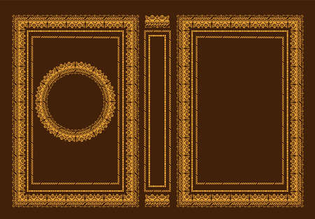 Vector classic book covers. Decorative antique frame or frame for printing on book covers. It is drawn by the standard size. You can change the color with a few mouse clicks