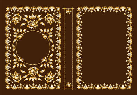 Vector classic book covers. Decorative antique frame or frame for printing on book covers. You can change the color with a few mouse clicks