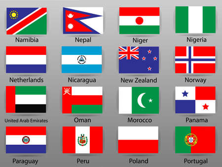 Flags of all countries of the world Part 8