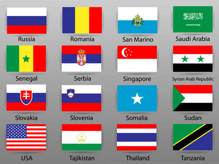 Flags of all countries of the world Part 9 版權商用圖片 - 110475716