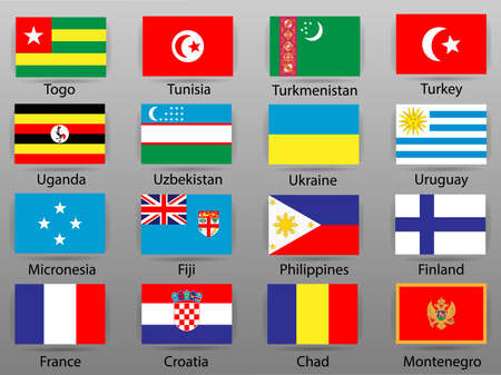 Flags of all countries of the world Part 10