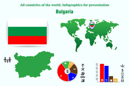Bulgaria. All countries of the world. Infographics for presentation