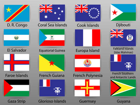 Flags of all countries of the world 版權商用圖片 - 112883183