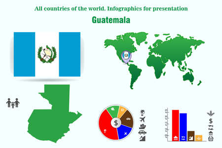 Guatemala. All countries of the world. Infographics for presentation. Set of vectors