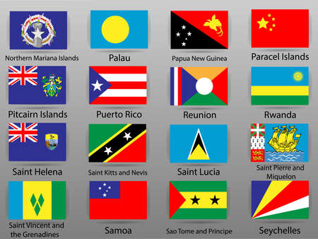 Flags of all countries of the world Part 15 Ilustrace