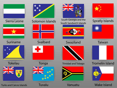 Flags of all countries of the world Part 16 版權商用圖片 - 113936006