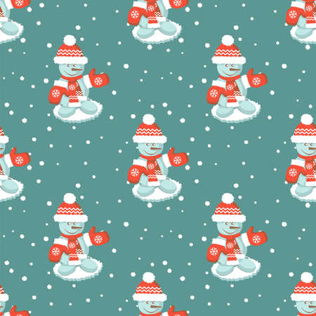 Seamless pattern ore background Merry Christmas and Happy New Year Ilustração