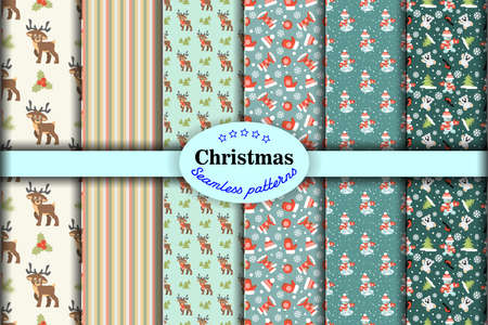 Seamless pattern  ore background  Merry Christmas and Happy New Year