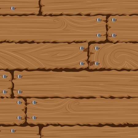 Texture wooden wall seamless background, vector illustration