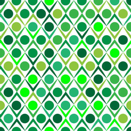 Green abstract ornament, seamless pattern. Vector illustration