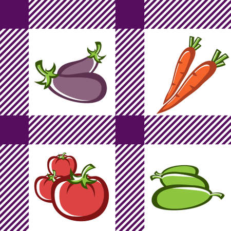 courgette: Preparation of vegetable dishes in the vector. Illustration