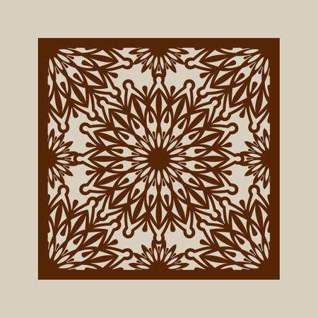 corte laser: adornos florales. El patr�n de plantilla para el panel decorativo. Una imagen adecuada para la impresi�n, el grabado, el papel del corte por l�ser, la madera, el metal, la fabricaci�n de la plantilla. Vector. F�cil de editar