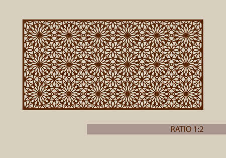 metal cutting: Floral ornament. The template pattern for decorative panel. A picture suitable for printing, engraving, laser cutting paper, wood, metal, stencil manufacturing. Vector. Easy to edit
