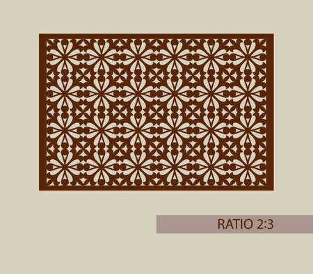 die cut: Geometric ornament. The template pattern for decorative panel. A picture suitable for printing, engraving, laser cutting paper, wood, metal, stencil manufacturing. Vector. Easy to edit