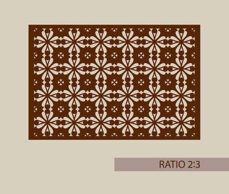 Geometrische versiering. De template patroon voor decoratieve paneel. Een beeld geschikt voor het printen, graveren, laser snijden van papier, hout, metaal, stencil productie. Vector. Gemakkelijk te bewerken