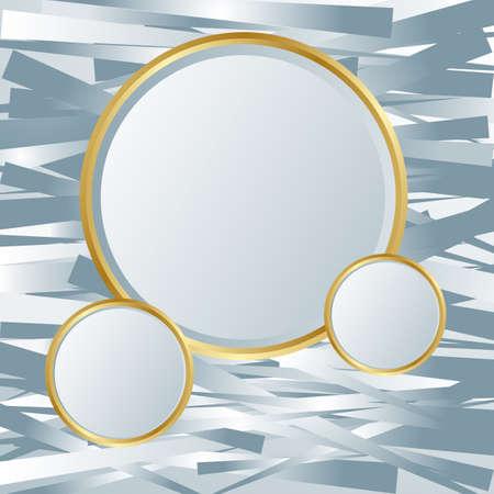 marcos redondos: Plata textura telón de fondo. Fondo brillante brillante resumen, compuesto por rayas de plata. textura brillante plata. elementos de plata. Lugar para el texto o mensaje. ilustración vectorial