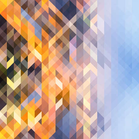 futuristic wallpaper: Abstract geometric background of colorful overlapping triangles. Trendy mosaic pattern. Perfect for design layouts of brochures, templates flyers, presentations. Vector illustration
