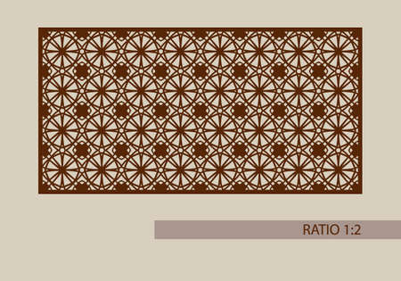 metal cutting: Geometric ornament. The template pattern for decorative panel. A picture suitable for printing, engraving, laser cutting paper, wood, metal, stencil manufacturing. Vector. Easy to edit