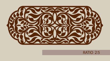 Bloemen ornament. De template patroon voor decoratieve paneel. Een beeld geschikt voor het printen, graveren, laser snijden van papier, hout, metaal, stencil productie. Vector. Gemakkelijk te bewerken