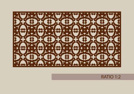 laser cutting: ornamento geom�trico. El patr�n de plantilla para el panel decorativo. Una imagen adecuada para la impresi�n, el grabado, el papel del corte por l�ser, la madera, el metal, la fabricaci�n de la plantilla. Vector. F�cil de editar