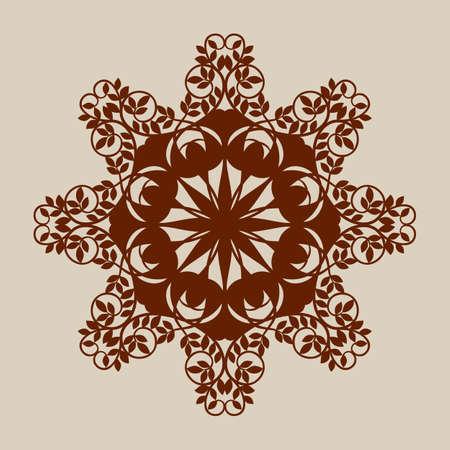 laser cutting: El patr�n de plantilla mandala de roseta decorativa. Una imagen adecuada para la impresi�n, el grabado, el papel del corte por l�ser, la madera, el metal, la fabricaci�n de la plantilla. Vector. F�cil de editar