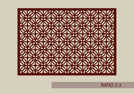 Geometric ornament. The template pattern for decorative panel. A picture suitable for printing, engraving, laser cutting paper, wood, metal, stencil manufacturing. Vector. Easy to edit