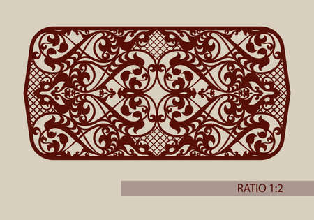 Floral ornament. Vintage style. The template pattern for decorative panel. A picture suitable for printing, engraving, laser cutting paper, wood, metal, stencil manufacturing. Vector