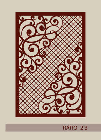 cut outs: Geometric ornament. The template pattern for decorative panel. A picture suitable for laser cutting, paper cutting, printing, engraving wood, metal, stencil manufacturing.
