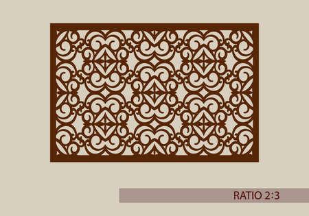 grecas: ornamento geom�trico. El patr�n de plantilla para el panel decorativo. Una imagen adecuada para el corte de papel, impresi�n, corte por l�ser o grabado en madera, metal. la fabricaci�n de la plantilla. Vector Vectores