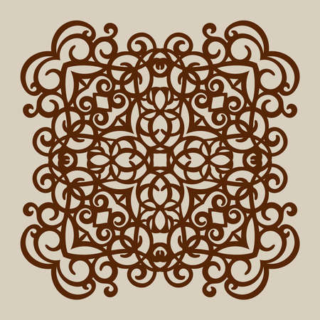 die: Geometric ornament. The template pattern for decorative panel. A picture suitable for paper cutting, printing, laser cutting or engraving wood, metal. Stencil manufacturing. Vector