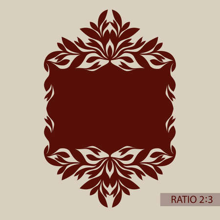 Floral ornament. The template pattern for decorative panel. A picture suitable for printing, engraving, laser cutting paper, wood, metal, stencil manufacturing. Vector Illustration