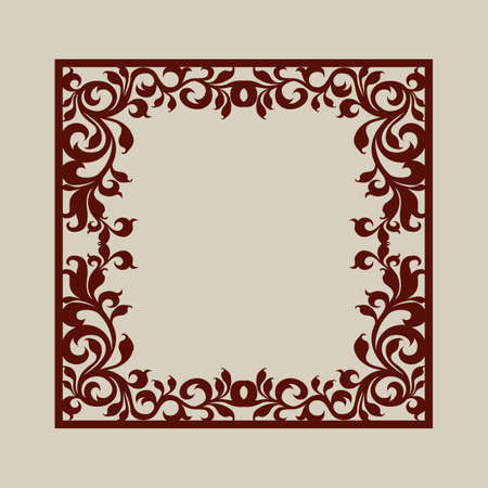 to cut out: Geometric ornament. The template pattern for decorative panel. A picture suitable for laser cutting, paper cutting, printing, engraving wood, metal, stencil manufacturing. Vector