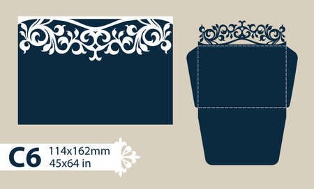 The layout of the cards in three additions. The template is suitable for greeting cards, invitations, etc. The picture suitable for laser cutting or printing. Vector