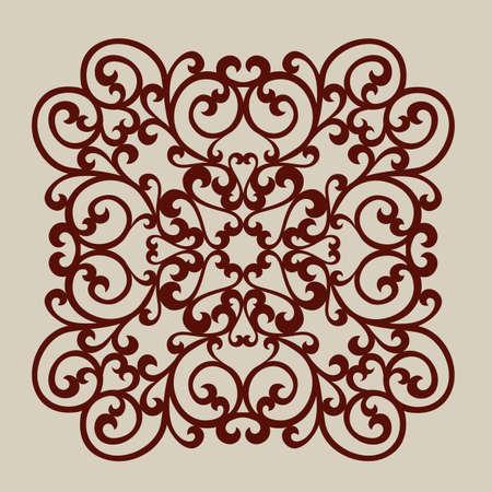 Lace ornament. Sjabloon voor decoratieve panelen. Het beeld is geschikt voor het afdrukken, graveren, laser gesneden papier, hout, metaal, stencil making