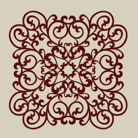 Lace ornament. Template for decorative panels. The image is suitable for printing, engraving, laser cut paper, wood, metal, stencil making Ilustrace