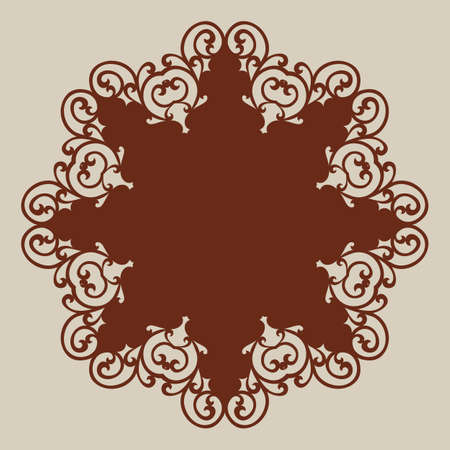 cutouts: Geometric ornament. The template pattern for decorative round panel. A picture suitable for paper cutting, printing, laser cutting or engraving wood, metal, stencil manufacturing