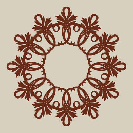 Geometric ornament. The template pattern for decorative round panel. Illustration