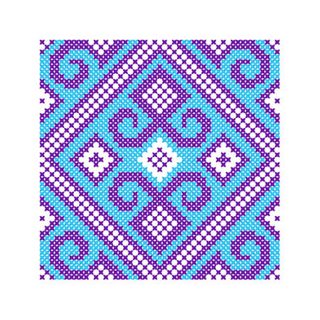 Ethnic ornament. Pattern for traditional embroidery cross or  bead weaving