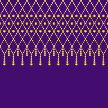 Elegant luxury pattern in traditional Mardi Gras holiday colors. Perfect to decorating clothes for carnival and up any room home, that needs a little color touch.