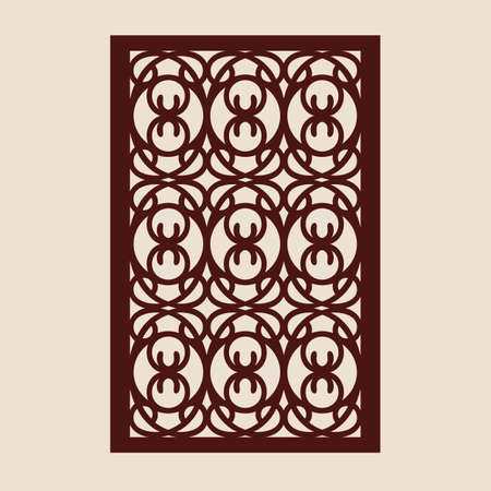 Geometric ornament. The template pattern for decorative panel. A picture suitable for paper cutting, printing, laser cutting or engraving wood, metal. Stencil manufacturing. Vector 向量圖像