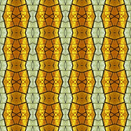 Seamless geometric textures of stained glass with backlight