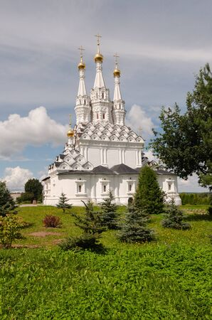Ancient Cathedral of Odigitria in Vyazma, Russia. Smolensk region 版權商用圖片